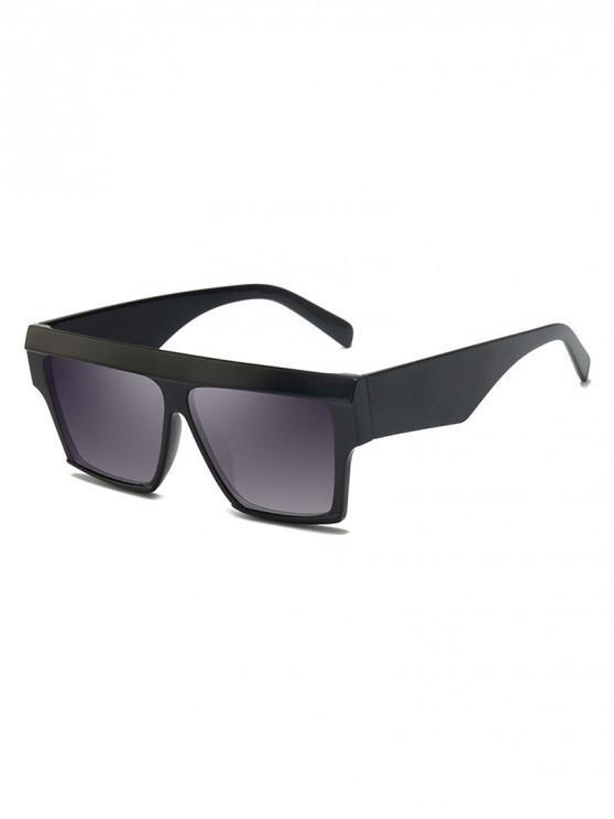 latest Square Oversized Polarized Sunglasses - BLACK