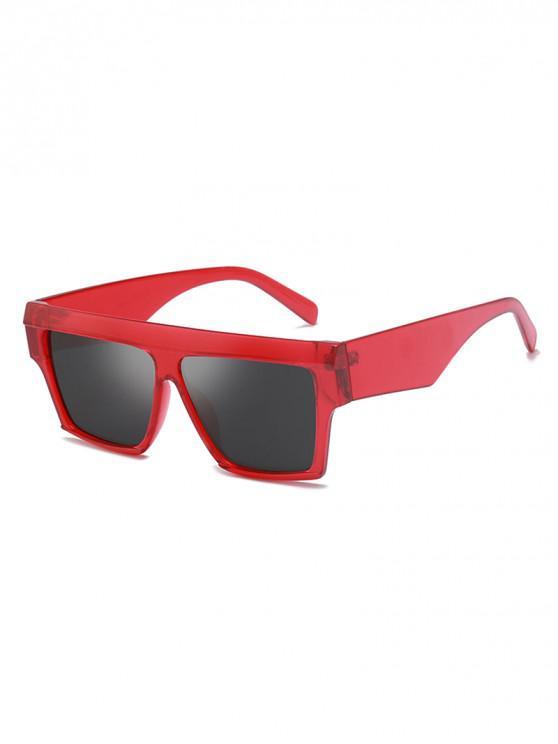 fashion Square Oversized Polarized Sunglasses - RED