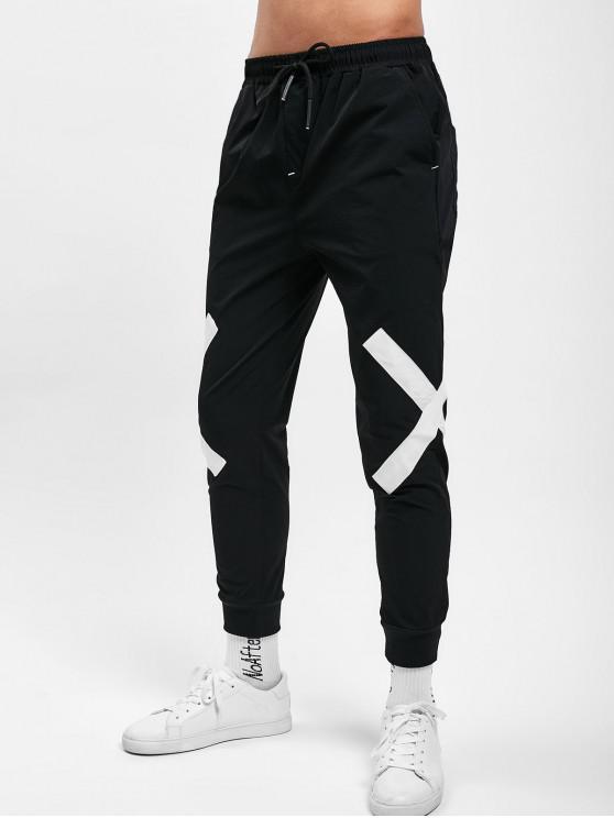 Pantaloni Da Jogging A Contrasto - Bianco 3XL