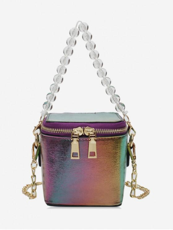 affordable Beads Strap Square Shoulder Bag - MULTI-A