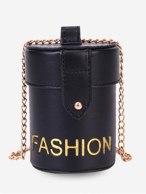 unique Character Pattern Shoulder Bucket Bag - BLACK