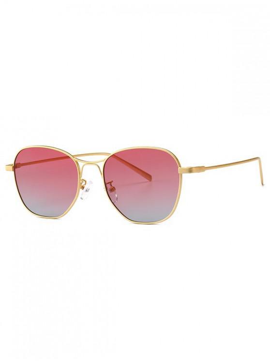 trendy Geometric Design Alloy Frame Sunglasses - RED
