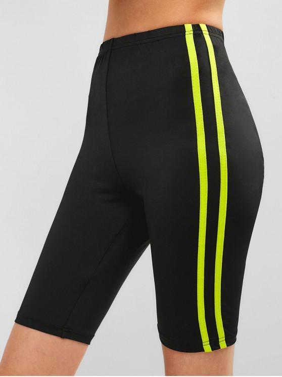 Short de cycliste skinny à rayures ZAFUL - Noir L