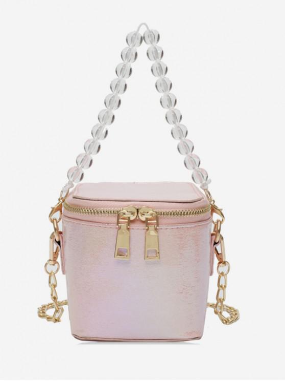 best Beads Strap Square Shoulder Bag - PINK