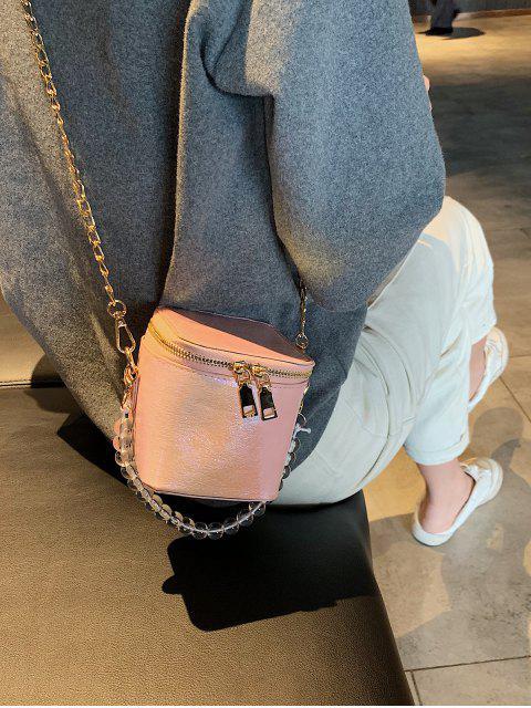Bolsa de Ombro com Contas Estampadas Geométricas - Rosa  Mobile