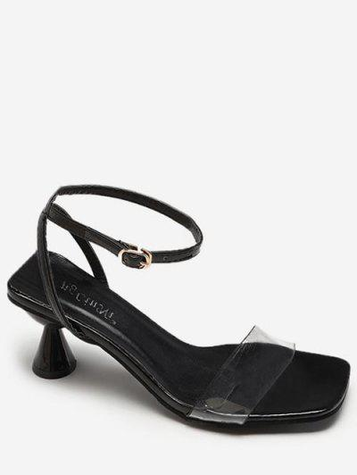 d785aadd7495e Clear Strap Strange Heel Sandals - Black Eu 36