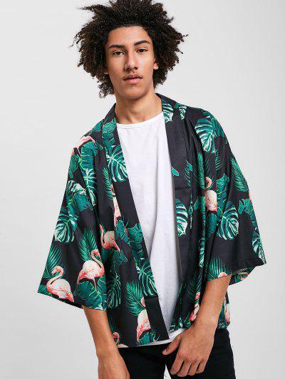 3024c77aad ... Flamingo Open Kimono Cardigan - Black Xl Flash sale HOT