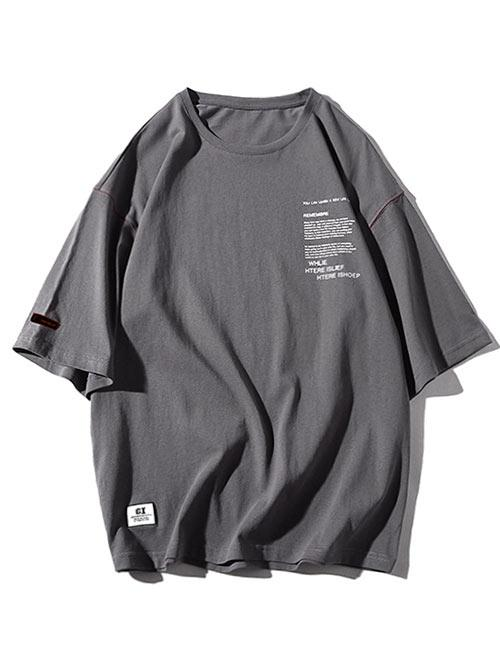 Zaful coupon: Round Neck Letters Print Applique Tee