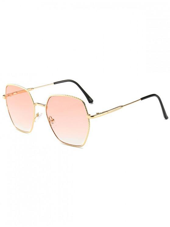 fashion Anti UV Metal Irregular Sunglasses - RED