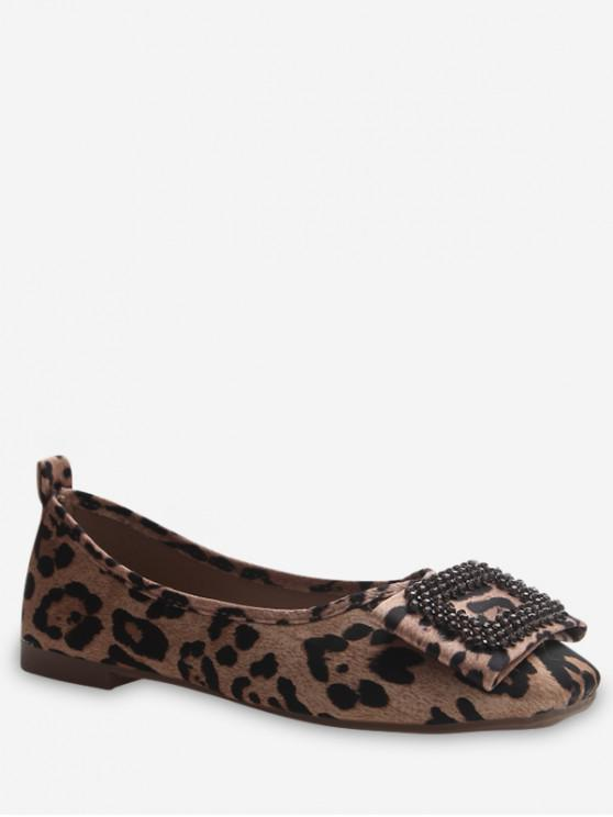 trendy Leisure Suede Flat Bottom Shoes - CARAMEL EU 38