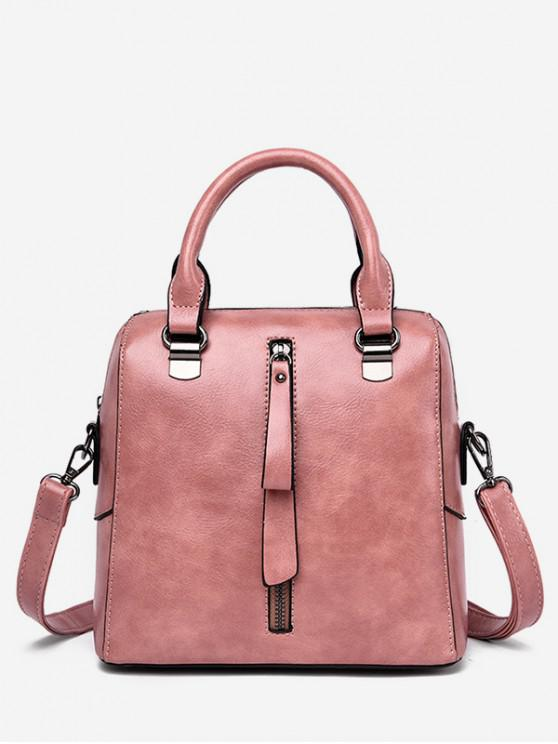 lady Solid Color Waterproof Tote Bag - PINK