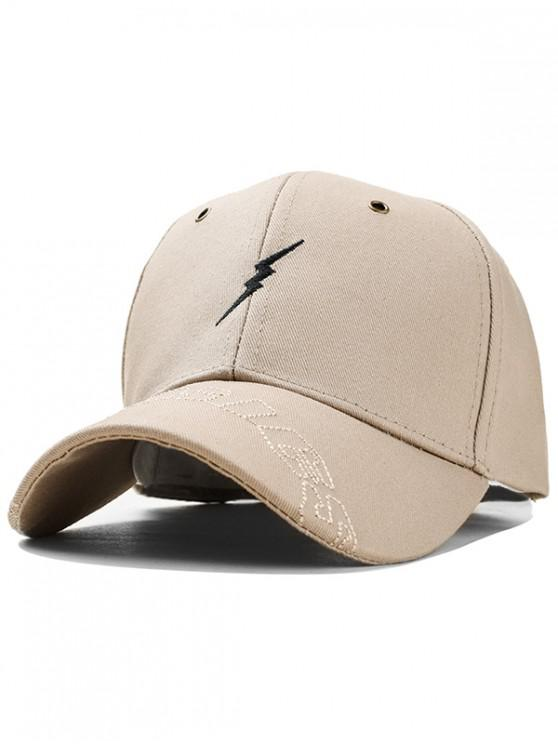 new Lightning Pattern Cotton Baseball Hat - TAN