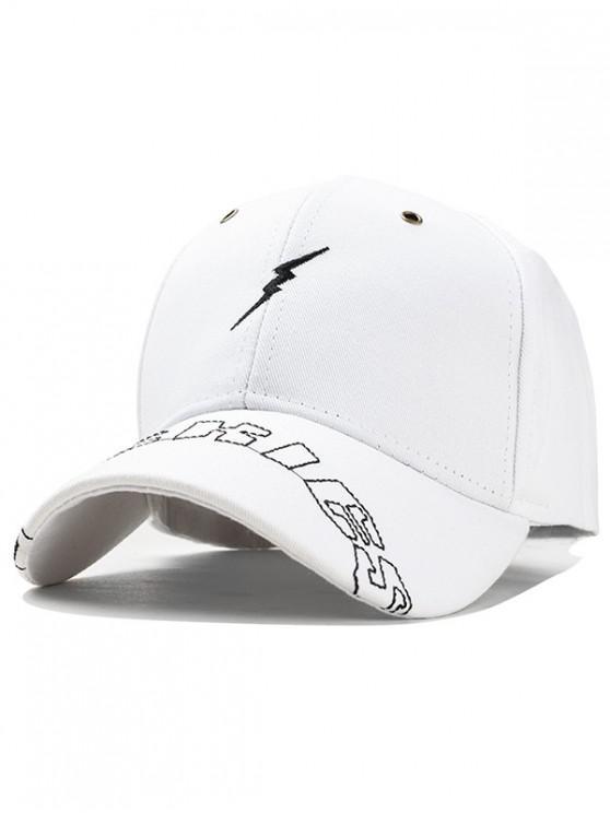 latest Lightning Pattern Cotton Baseball Hat - WHITE