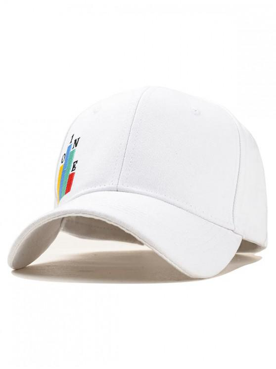 trendy Embroidery Design Baseball Hat - WHITE