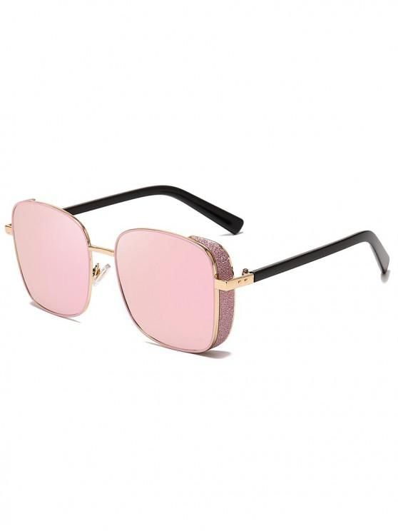 sale Animal Print Punk Square Design Sunglasses - PIG PINK