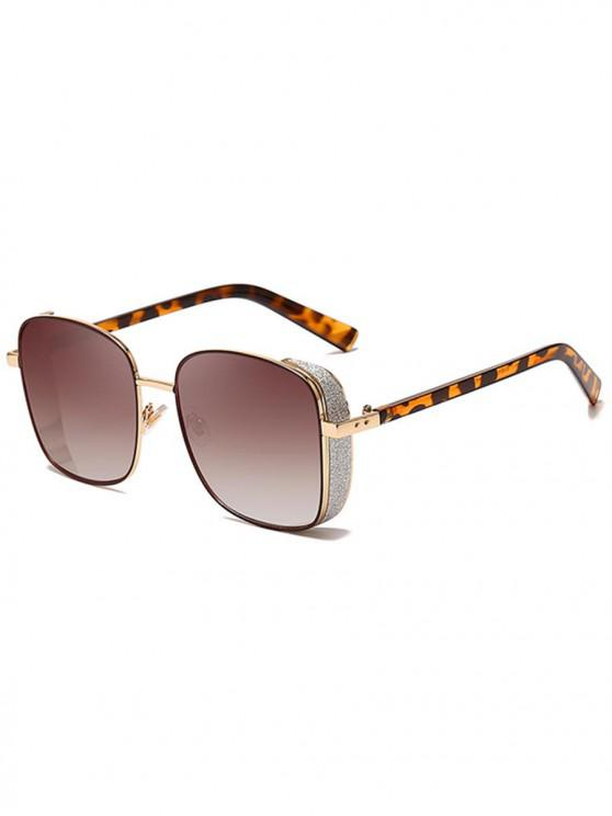 affordable Animal Print Punk Square Design Sunglasses - LEOPARD