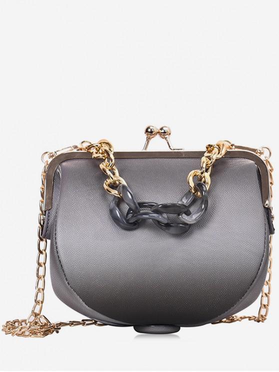 women Irregular Shape Simple Shoulder Bag - BATTLESHIP GRAY