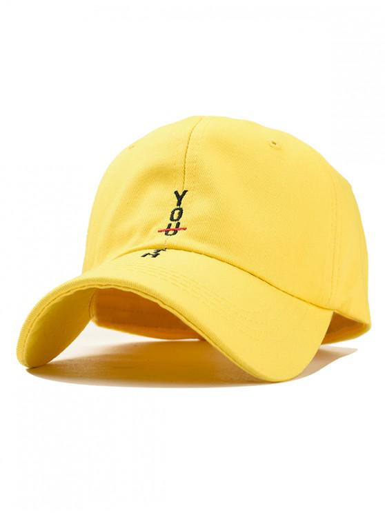 latest Character Stylish Cotton Baseball Hat - YELLOW