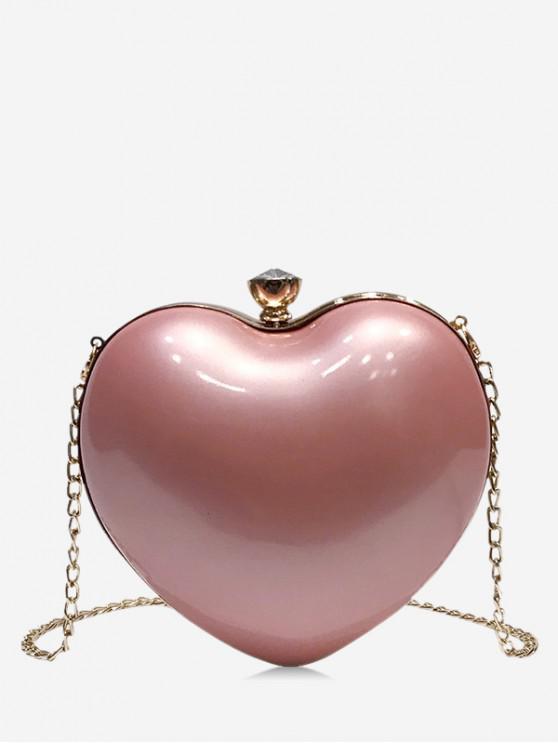 sale Heart Shape Design Crossbody Bag - PINK