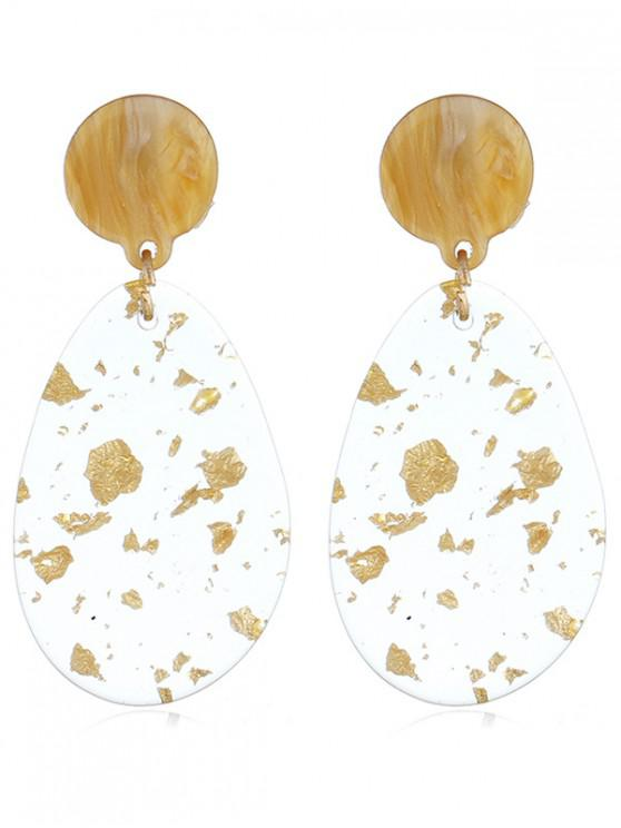 lady Water Drop Acrylic Transparent Earrings - YELLOW