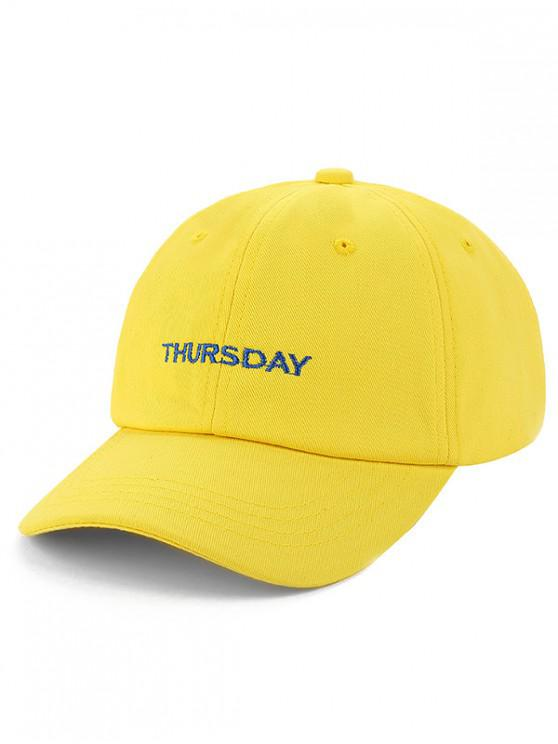 new Unisex Character Embroidered Baseball Hat - YELLOW
