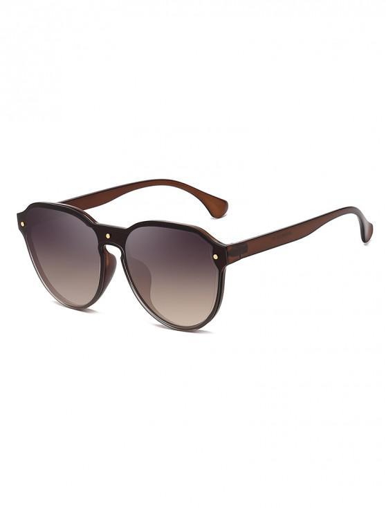 shops Oversize Butterfly Shape Sunglasses - BROWN