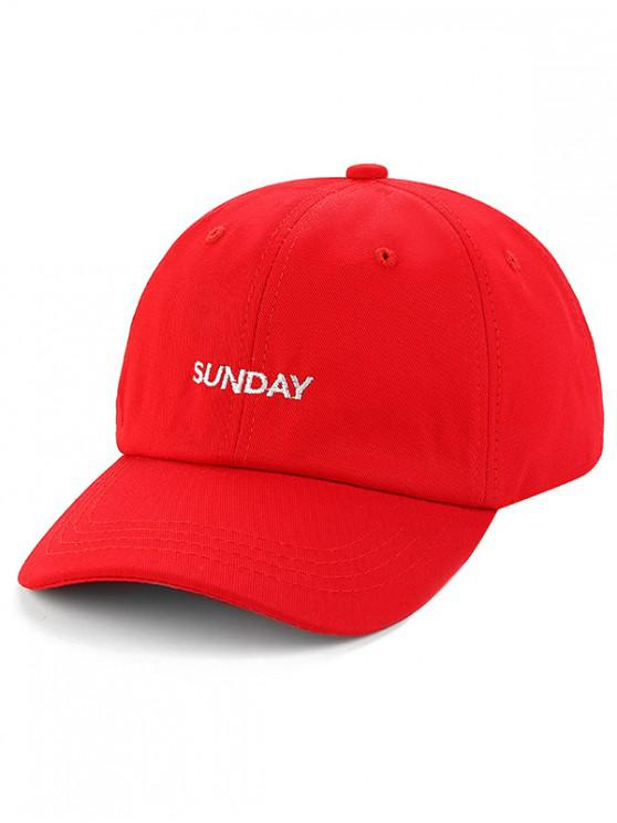 latest Unisex Character Embroidered Baseball Hat - RED