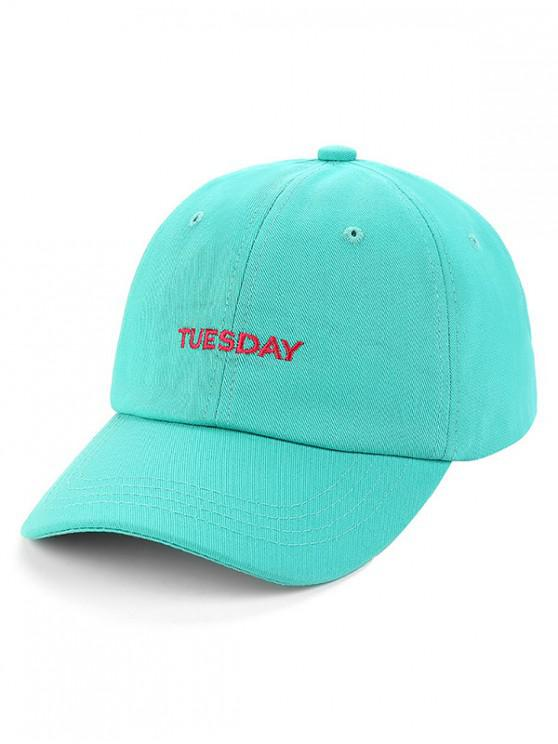chic Unisex Character Embroidered Baseball Hat - MEDIUM TURQUOISE