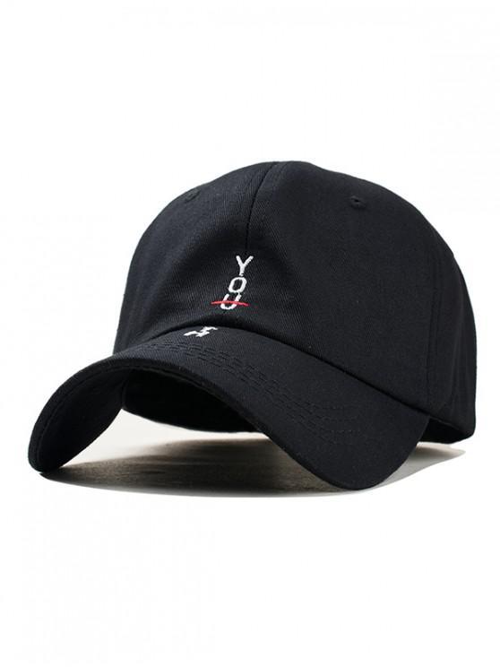 fancy Character Stylish Cotton Baseball Hat - BLACK