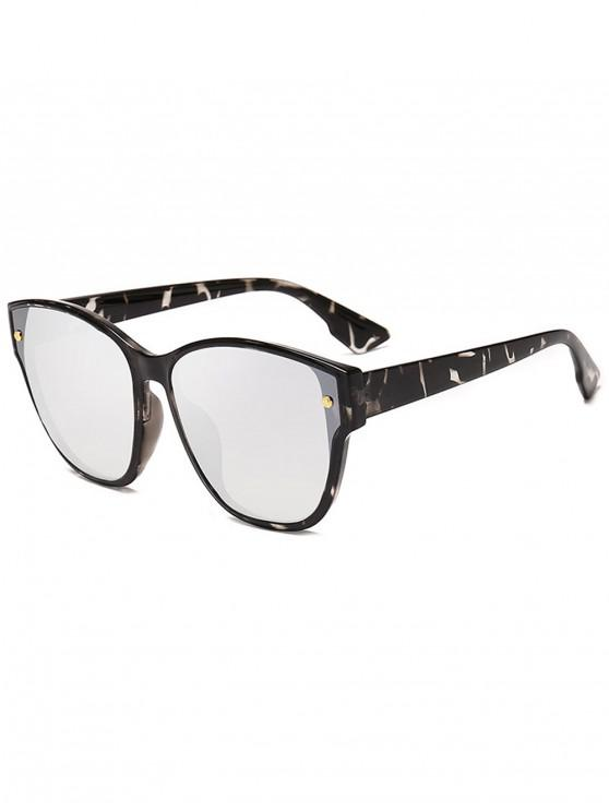 buy Rivet Decorated Butterfly Frame Sunglasses - PLATINUM