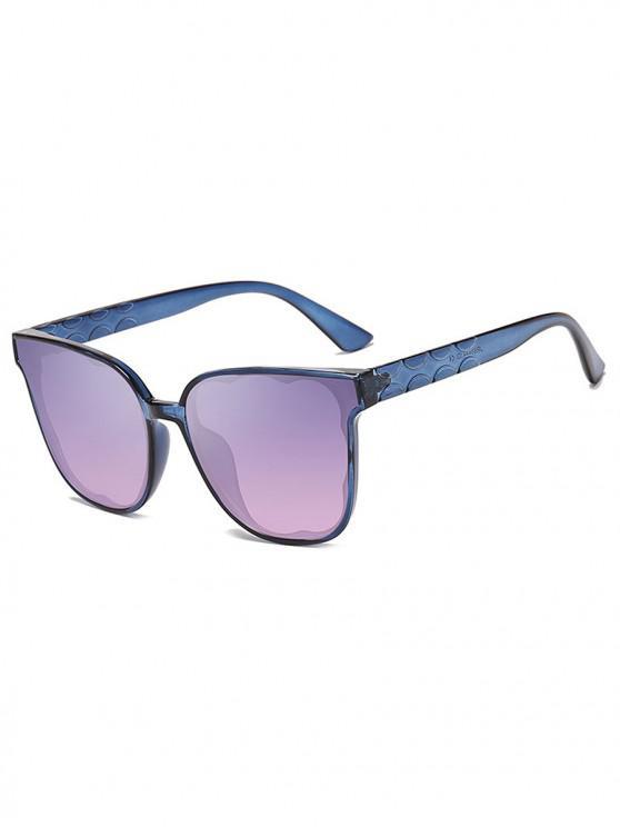 ladies UV-proof Stylish Irregular Pattern Sunglasses - POWDER BLUE