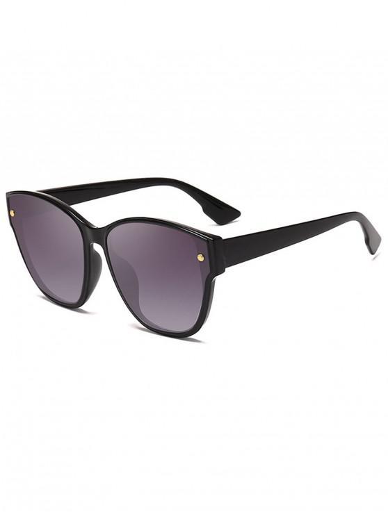 best Rivet Decorated Butterfly Frame Sunglasses - DARK SLATE GREY