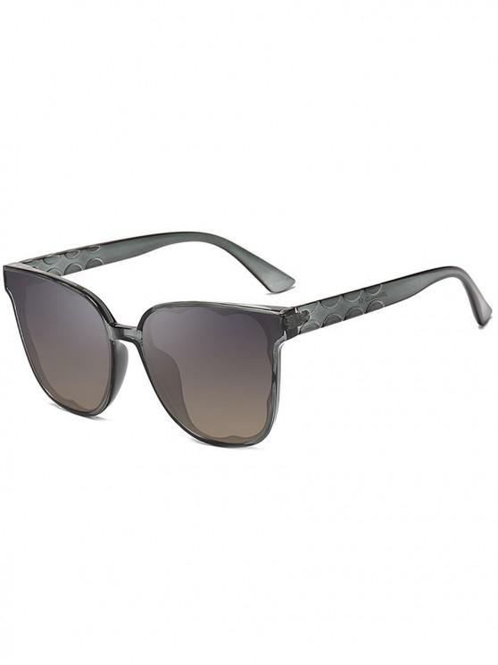 online UV-proof Stylish Irregular Pattern Sunglasses - CARBON GRAY