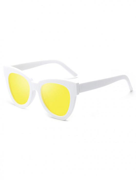 new Animal Print UV-resistant Vintage Style Wide Frame Sunglasses - YELLOW