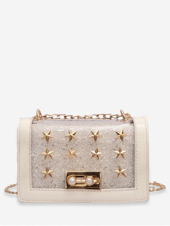 online Chic Star Design Crossbody Bag - WHITE