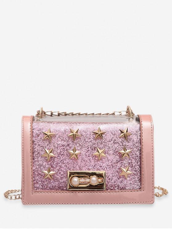 fashion Chic Star Design Crossbody Bag - PINK