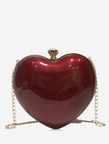 Bolso bandolera diseño en forma de corazón
