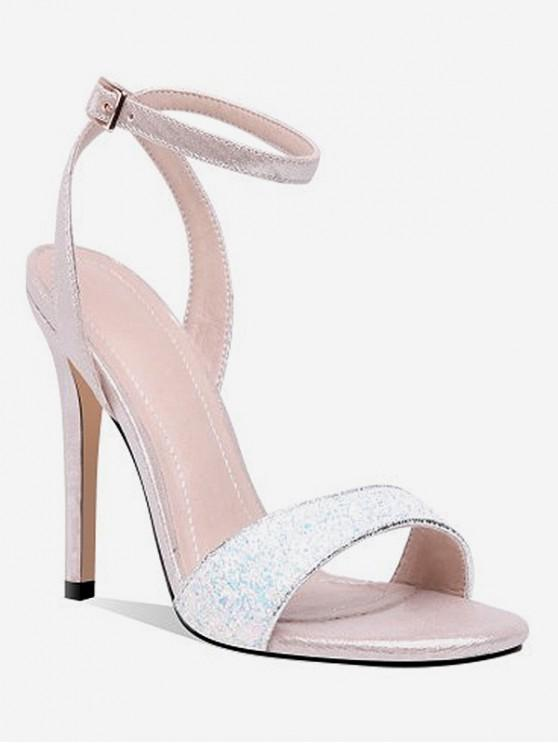 lady Super High Heel Glitter Sandals - WHITE EU 39