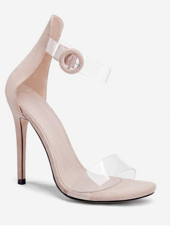 Sandales à Bride Transparente à Talon Super Haut - Abricot EU 38