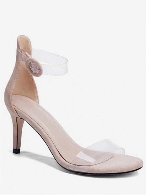 50ce35964f5 Clear Strap Stiletto Heel Sandals APRICOT BLACK RED RED WINE