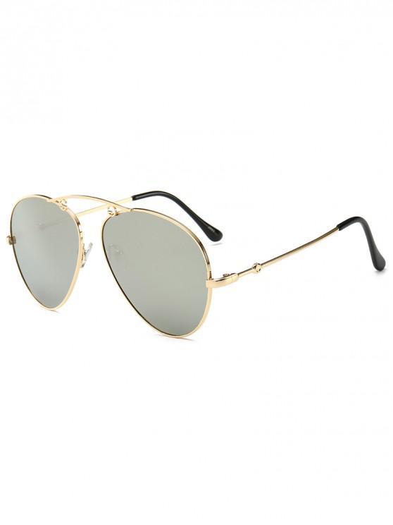 sale Gradient Metal Pilot Sunglasses - SILVER
