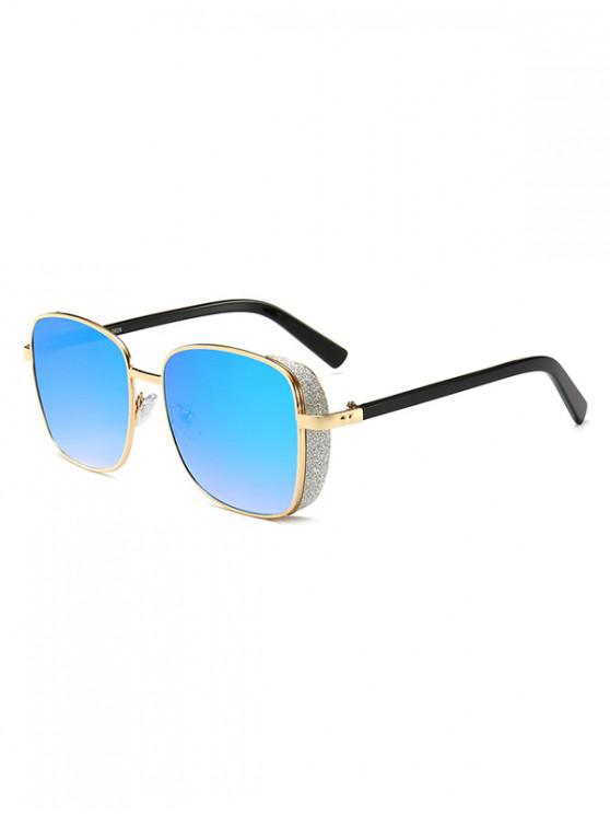 ladies Metal Rim Square Sunglasses - BABY BLUE
