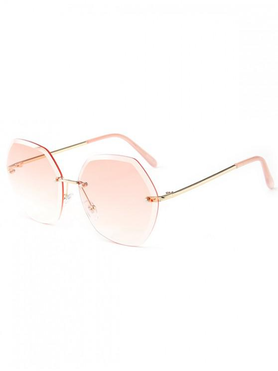 shops Ombre Irregular Rimless Sunglasses - LIGHT PINK