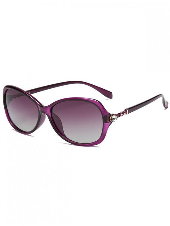 latest Rhinestone Embellished Polarized Sunglasses - PURPLE