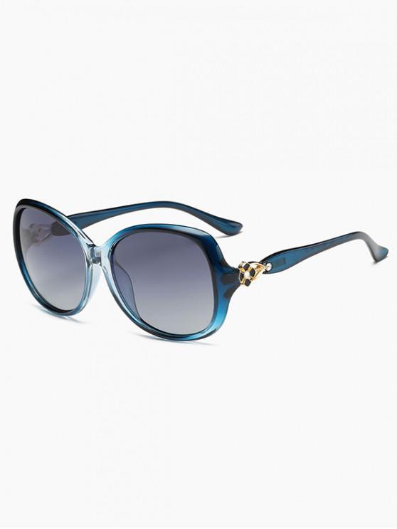 latest Floral Hollow Leg Polarized Sunglasses - BLUE