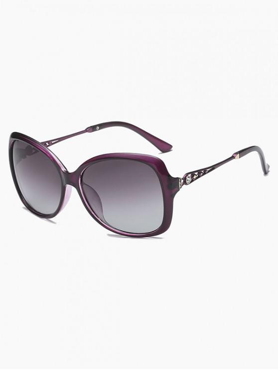 fancy Vintage Anti UV Polarized Sunglasses - PURPLE