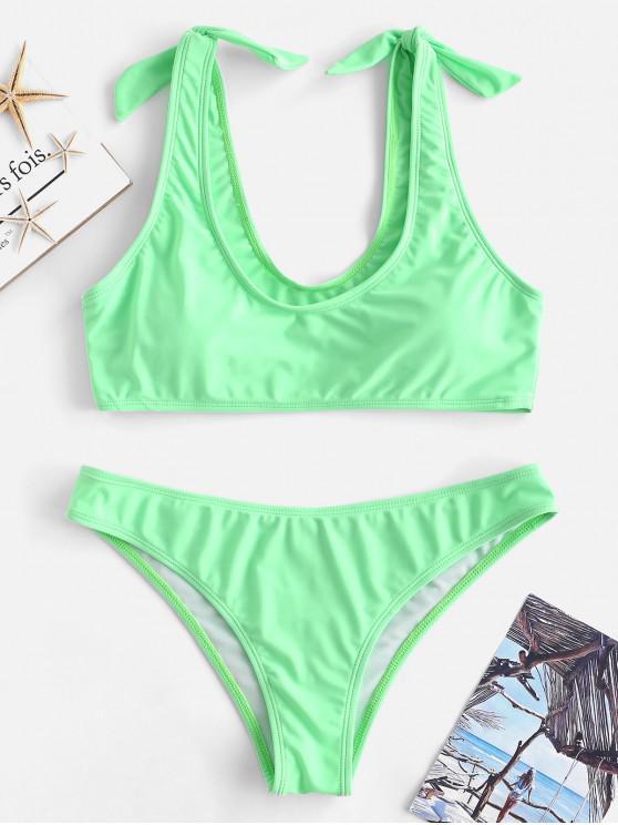Bikini de neón de nudo ZAFUL - Verde Menta S