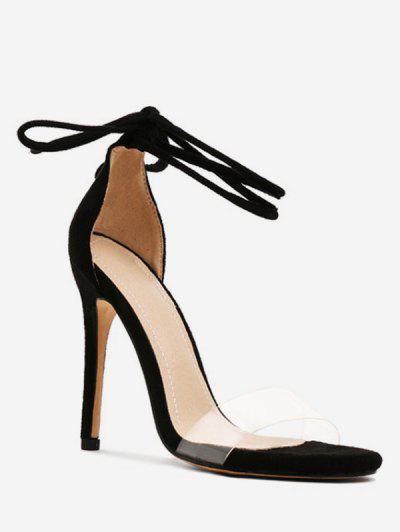 af276966eee77c Super High Heel Ankle Wrap Sandals - Black Eu 38 ...