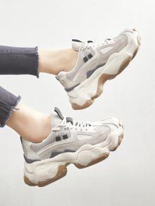 3b8defe1aef Patch Lacing Platform Running Sneakers  Patch Lacing Platform Running  Sneakers ...
