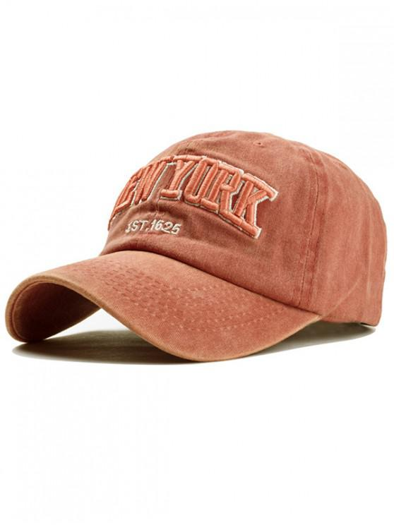 affordable Washed Cotton Character Baseball Hat - TIGER ORANGE